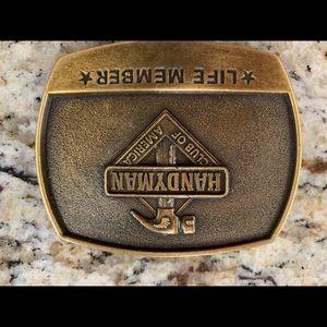 Handyman Club of America brass belt buckle